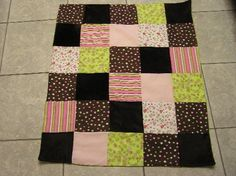 Quilted baby blanket by CittysCrochet on Etsy, $45.00