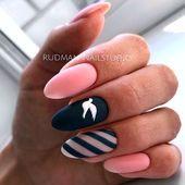 Discover new and inspirational nail art for your short nail designs. Nail Art Designs, Black Nail Designs, Short Nail Designs, Nails Design, Stylish Nails, Trendy Nails, Cute Nails, Oval Nails, Pink Nails