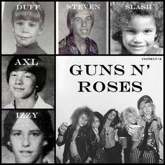 Guns N Roses as kids