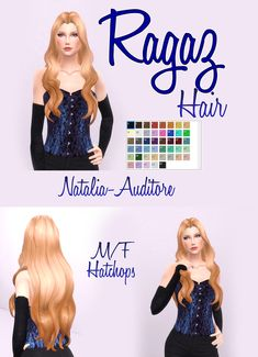 Ragaz Hair | Natalia-Auditore on Patreon Sims 4 Cc Skin, Sims 4 Mm Cc, Sims 4 Game Mods, Sims Mods, Maxis, Sims 4 Anime, Pelo Sims, The Sims 4 Packs, Sims 4 Collections