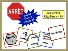 French Verb Review Card Game with Speaking: Regular ER Verbs
