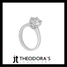 Handmade solitaire engagement ring in 14K white gold, set with round white cubic zircon 8mm. Classic, impressive, timeless. Let it speak for you, showing her just how deeply you love and treasure her.-------------------------------------------------------------Χειροποίητο λευκόχρυσο μονόπετρο δαχτυλίδι 14Κ με λουστρέ φινίρισμα και λευκό ζιργκόν 8mm. Κλασικό, εντυπωσιακό, διαχρονικό. Αφήστε το κόσμημα να μιλήσει από μόνο του και δείξτε της την αγάπη και την αφοσίωσή σας!