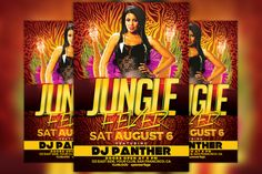 Jungle Fever Party Flyer Template by Flyermind on @creativemarket