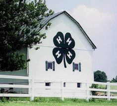 4-H made me what I am today-such a great program for kids of all ages.   What a fitting tribute to put this on the side of a barn!