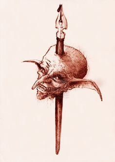 Goblin INK by yzorg on DeviantArt Goblin, Sketching, Deviantart, Ink, Christmas Ornaments, Eyes, Holiday Decor, Xmas Ornaments, Christmas Jewelry
