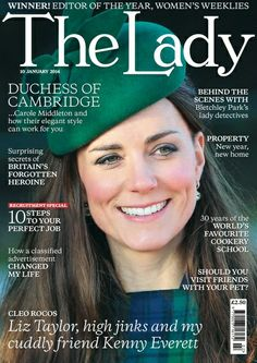 The Duchess of Cambridge graces the cover of The Lady Magazine cover for her 32nd birthday month January 2014
