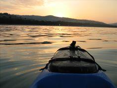 Il mio kayak, il mare ed un bel tramonto.