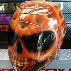 Custom Airbrushed Motorcycle Helmet by Airgraffix.com 144
