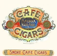 Cafe Cigars box label