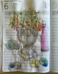 Studie Glass Vase, Painting, Decor, Art, Mondays, June, Sketches, Calendar, To Draw