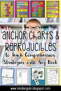 Fiction Stories Have a Beginning, a middle, and an end! This blog posy has anchor chart and reproducibles to help teach comprehension strategies for any book! Perfect for kindergarten reading lessons.