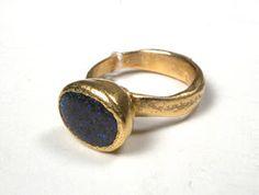 Ann Culy - 22k Boulder Opal Ring