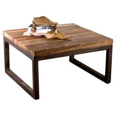 Check out this item at One Kings Lane! Polk Coffee Table, Natural/Dark Pewter