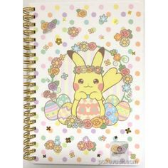Pokemon Center 2017 Easter Campaign Pikachu Spiral Notebook (Version #1)