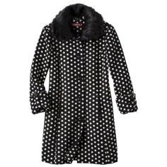 Polka Dot Luxe Coat -Black *dammit why do they all have to be wool. Cute Coats, Love Fashion, Womens Fashion, Target Style, Classy Outfits, Fashion Pictures, What To Wear, Style Me, Personal Style