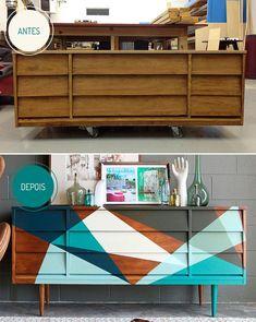 Móvel velho, decoração nova: ideias para renovar móveis antigos