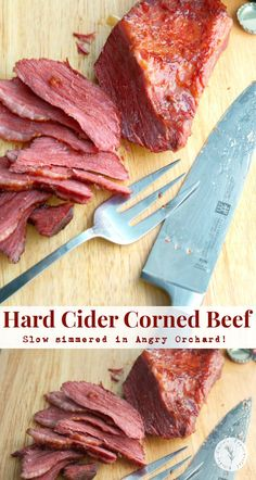 Enjoy the flavors of Fall all year long with this Slow Simmered Hard Cider Corned Beef made with Angry Orchard Hard Cider. Veal Recipes, Cookbook Recipes, Soup Recipes, Cooking Recipes, Yummy Recipes, Cooking Tips, Angry Orchard, Corned Beef Brisket, Easy Family Meals
