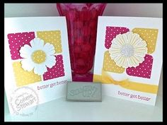 Simply Simple NOW or WOW - Better Get Better Daisy Card by Connie Stewart
