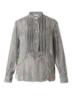 ISABEL MARANT ÉTOILE Charley striped chiffon shirt