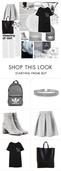 """Everything is Gray"" by sarahs884 ❤ liked on Polyvore featuring adidas, Bling Jewelry, Gianvito Rossi, Miss Selfridge, rag & bone, CÉLINE, grey, halsey and templeteused"