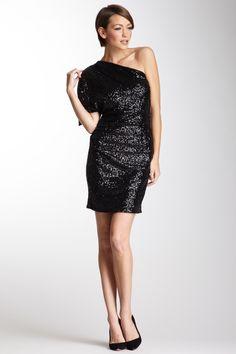 Sequined One Shoulder Dress