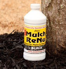 Mulch Dye: Jet Black-Bring color back into your yard with Mulch Renu(Covers 500 square feet) « zGardenSupply Small Yard Landscaping, Mailbox Landscaping, Mulch Landscaping, Mulch Yard, Landscaping Ideas, Black Mulch, Lawn Sprinklers, Free Plants