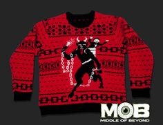 Krampus the Christmas Devil Pullover Sweater