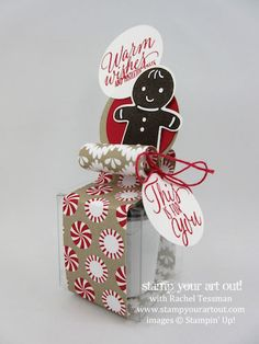K-cup Christmas Treat box with Candy Cane Lane paper and Cookie Cutter Christmas stamp set... #stampyourartout - Stampin' Up!® - Stamp Your Art Out! www.stampyourartout.com