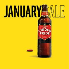 Very clever campaign - London Pride ads invite punters to the 'January ale' in subtle 'copycat' campaign.   #Christmas #January #Sale #Shop #Drink #Design #Creative