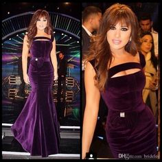 Mermaid Straps Sexy Long Purple Velvet Celebrity Evening Dress Mermaid Arabic Formal Gowns 2015 Unique Design Evening Party Dresses With Bow Womens Evening Dresses Online Ball Gowns Evening Dresses From Bridelee, $94.32| Dhgate.Com