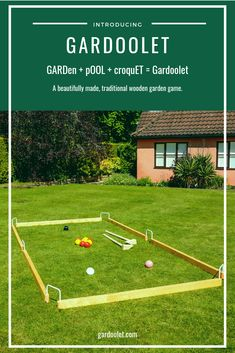 Discover Gardoolet: The Artisan Giant Lawn Game Fast-paced and wonderfully addictive, elements of cr Yard Games For Kids, Diy Yard Games, Diy Games, Backyard For Kids, Backyard Games, Games For Girls, Backyard Landscaping, Outdoor Games For Adults, Backyard Ideas