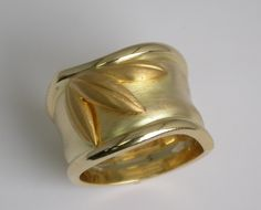 Mark Patterson 18/24K gold Bamboo Ring.