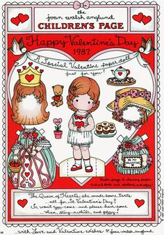 Free Valentines Day Paper Doll Printables www.247moms.com #247moms