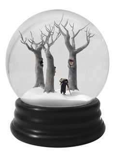 Collaborative duo Walter Martin and Paloma Muñoz create detailed photographs of miniature snowbound environments.  Their variously playful and sinister situations reveal a hidden darkness of the countryside. These works—and their subtext—were inspired by the pair's move from New York City to the country..