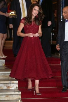 $1,597 On April 4, Kate attened the 42nd Street premiere in a Marchesa dress and Kate Spade earrings.