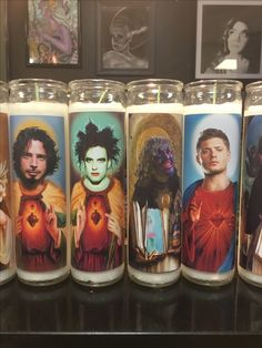Now at Www.Burningidols.etsy.com. Great gifts for any one . Saint Robert Smith Saint Dean Saint Old Greg and Saint Chris Cornell