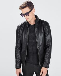 ZARA - MAN - FAUX LEATHER JACKET WITH A QUILTED BACK