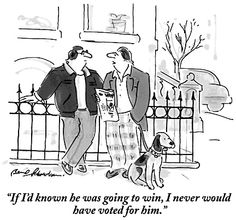 Election Day is coming at last, and bringing with it triumph, disappointment, anger, dismay—maybe even hope and change. Also, cartoons. Click-through for a selection, showing how New Yorker cartoonists have exercised the humor franchise...