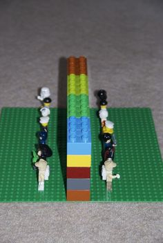 "Create your own version of the game ""Guess Who"" with LEGO bricks and minifigures!"