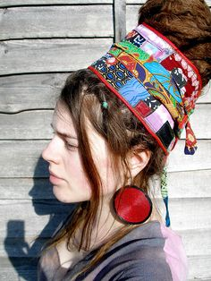 Awesome Wrapped Dread Bun I LOVE LOVE LOVE this and will try to do this when mine are longer