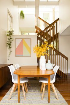 How I gave my dining room a makeover with Freedom Australia, via WeeBirdy.com. #interiors #thetreehouse #polehouse #Parker #Fler #midcenturymodern #Freedom #plants #home #rugs