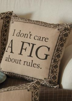 Downton Life A Fig Pillow Cover | Heritage Lace