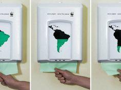 Propaganda da WWF em defesa do meio ambiente