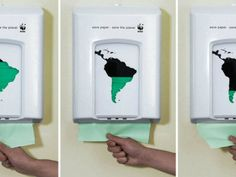 An amazing ad campaign to save paper in the planet for WWF. By Saatchi & Saatchi, Denmark.