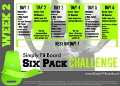 Slimming Challenge Simply Fit Board Six Pack Challenge: Week 2 Simple Fit Board, Fit Board Workouts, At Home Workouts, Simply Fit Board Exercises, Losing Weight Quotes, Fitness Tips, Fitness Motivation, Workout Challenge, Challenge Week