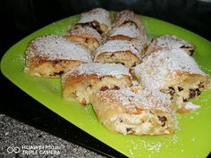 Cookie Recipes, Dessert Recipes, Strudel, Casserole Recipes, Tofu, Green Beans, Sushi, Food And Drink, Pudding