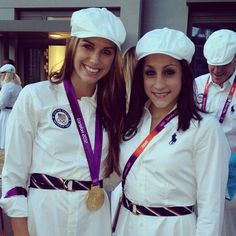 My two favorite olympians in one picture.