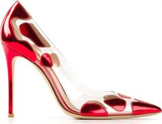 Gianvito Rossi Red Spotted Pumps