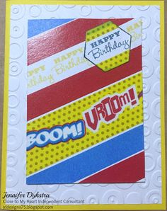 jd designs: Pow! Double The Birthday Fun! card using CTMH Holiday Tags