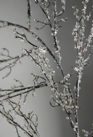"""How to Make """"Icy"""" Twigs with Glass Glitter and other beautiful twig decor"""
